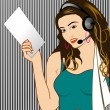 Stock Photo: Call Center Girl