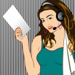 Call Center Girl — Stock Photo