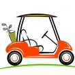 Golf car line art — Stock Photo