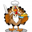 Turkey cartoon — Stock Photo #7822878