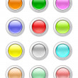 Stock Photo: Glassy buttons