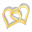 Royalty-Free Stock Photo: Golden hearts