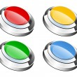 Glassy buttons — Stock Photo