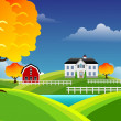 Stock Photo: Scenic farm landscape
