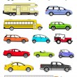 transport icons — Stockfoto