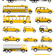 transport iconen — Stockfoto
