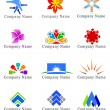 Design elements for logo — Stock Photo