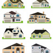 Stock Photo: Colorful homes