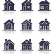 Different home icons — Stock Photo