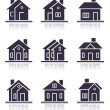 Different home icons — Stock Photo #7824914