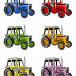 Farm tractors — Stock Photo #7825063