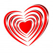 Bright shiny red heart — Stock Photo