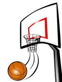 Basket ball hoop — Stock Photo