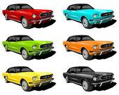 Illustration of Mustangs — Stock Photo