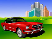 Red Mustang — Stock Photo