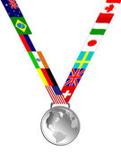 Silver Medal — Stock Photo