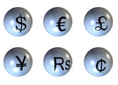 3d world currency — Stock Photo