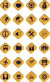 Set di icone in legno — Foto Stock