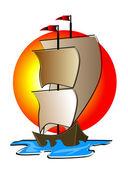 Ship Illustration — Stock Photo