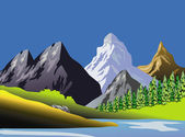 Arte scenica montuose paesaggio — Foto Stock