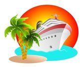 Cruise Clipart — Stock Photo