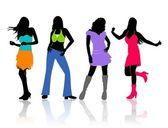 Meninas dançando — Fotografia Stock