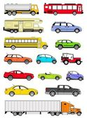 Transportation icons — Stock Photo