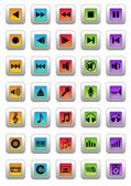 Musical icons — Stock Photo