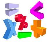 3D Math symbols — Stock Photo