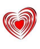 Bright shiny red heart — Photo