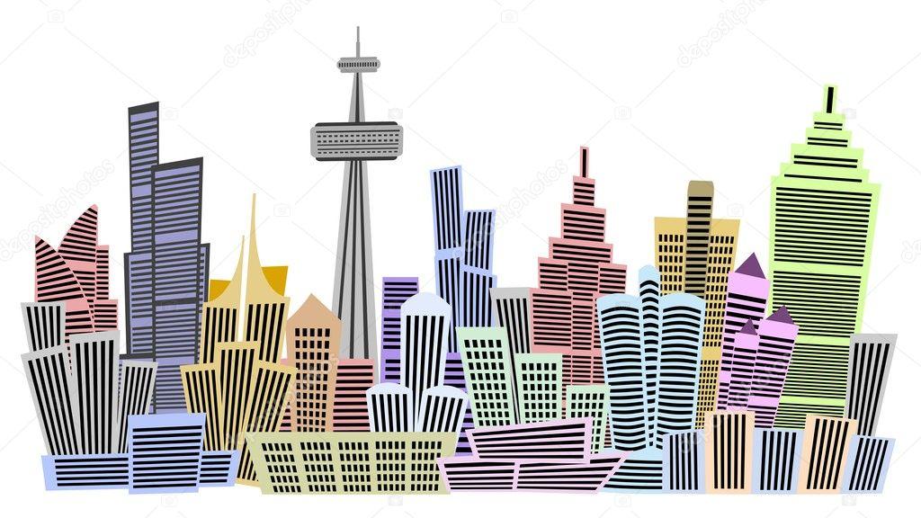 Flera våningar byggnader u2014 Stockfotografi u00a9 snehitdesign #7821635