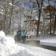 Snow Ploughing — Stock Photo