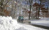 Neve aratura — Foto Stock