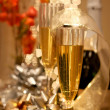 Foto de Stock  : Two champagne glasses