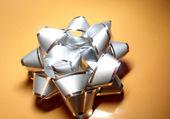 Silver bow — Stock Photo