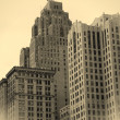 Stock Photo: Historic Buildings In Detroit Downtown