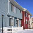 Stock Photo: COLORFUL ATTACHED HOMES