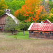 Barn And Old House - Stock Photo