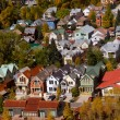 Colorful homes in tourist town Telluride, Colorado — Stock Photo #7889679