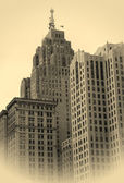 Historic Buildings In Detroit Downtown — Stock Photo