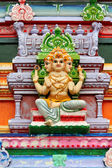 Hindu god statue on temple — Stock Photo