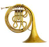 Een oude messing-trompet — Stockfoto