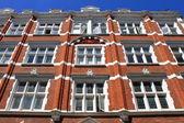 British red brick building — Stock Photo