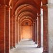Romanic style colonnade — Stock Photo
