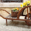 Stock Photo: Vintage wooden cart