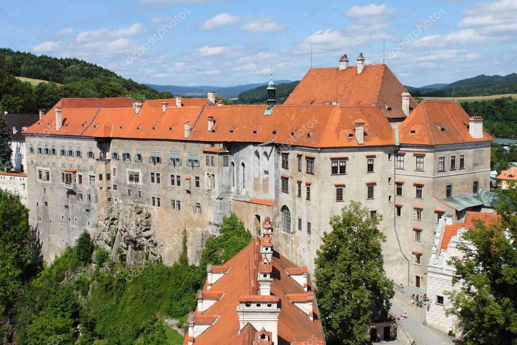 Landscape view of Cesky Krumlov Castle, Czech Republic — Zdjęcie stockowe #6853531