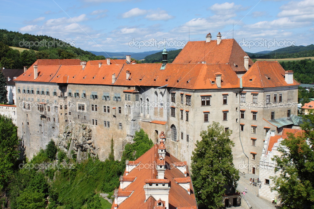 Landscape view of Cesky Krumlov Castle, Czech Republic — Stock fotografie #6853531