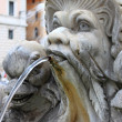 Marble fountain in Pantheon, Rome - Stock Photo