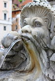 Marble fountain in Pantheon, Rome — Stock Photo