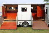 Horse transportation van — Stockfoto